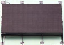 LED matrix digital display. LED matrix display digital embedded on the wall Royalty Free Stock Photography