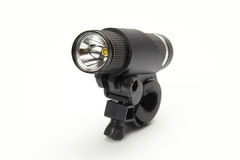 Led metallic flashlight Royalty Free Stock Image