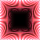 LED mirror abstract square background. Red blazing lights fading to the center. Vector illustration Royalty Free Stock Photos