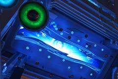 LED moderne allumant l'interrior commercial de plaza de l'immeuble de bureaux moderne, hall moderne de bâtiment d'affaires, bâtim Images stock