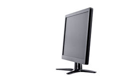 LED monitor computer display of side on white background  hardware  desktop technology isolated Royalty Free Stock Images