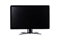 LED monitor computer display on white background  hardware  desktop technology isolated Stock Photography