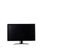 LED monitor computer display on white background  hardware  desktop technology isolated Stock Images