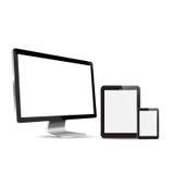 LED  Monitor phone  against white background. Royalty Free Stock Photography
