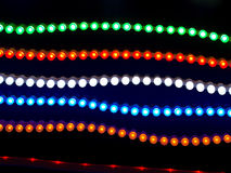 Led neon. Chains on black background Stock Photography