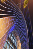 Led  night lighting used on modern building curtain wall Royalty Free Stock Photography
