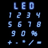 Led numbers blue Stock Image
