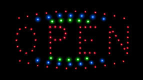 LED open  sign Royalty Free Stock Image