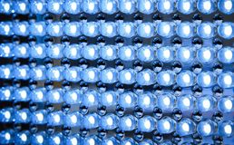 Led panel in fluorescent light. Close up stock photo