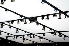 LED PAR Lighting equipment for stage or exhibition Stock Images