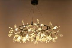 Led pendant  lighting. Glowworm led pendant  lighting shine at night Royalty Free Stock Image