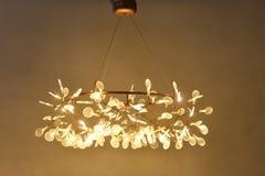 Led pendant  lighting. Glowworm led pendant  lighting shine at night Royalty Free Stock Photo