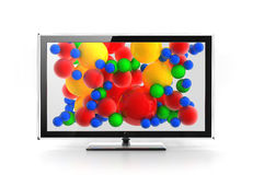 Led / Plasma / LCD screen concept. Led / Plasma / LCD vivid screen concept Stock Photos