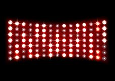 Led projection screen. Illustration of Led projection screen Stock Images