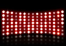 Led projection screen. Illustration of Led projection screen Royalty Free Stock Images