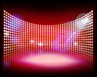 Led projection screen. Vector illustration. Stock Images