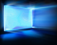 Led projection screen. Vector illustration. Royalty Free Stock Photos