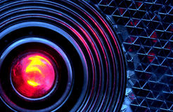 LED-rear light. Closeup view of a bisycle reflector Stock Photos