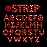 LED ribbon strip light font Royalty Free Stock Image
