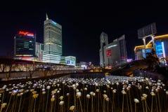 LED Rose Garden at  Dongdaemun Design Plaza at Night, Stock Photos