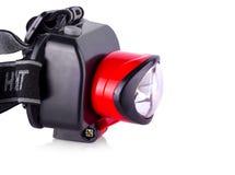 LED-Scheinwerfer lokalisiert auf Weiß Stockfotografie