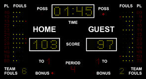 LED Scoreboard Royalty Free Stock Photo