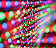 Led screen. Close-up of colourful led screen Stock Photos