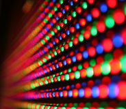 Led screen. Close-up of colourful led screen Stock Photography