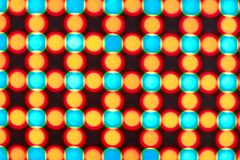 LED Screen. Close-up of the Matrix of a Screen made of multiple LEDs stock photo