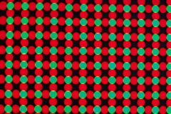 LED Screen. Close-up of the Matrix of a Screen made of multiple LEDs stock photography