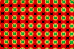 LED Screen. Close-up of the Matrix of a Screen made of multiple LEDs stock image