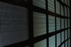 Led screen gray diodes - bricks. Background Stock Images