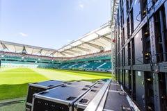Led screen installed on the Legia stadium in Warsaw Stock Photo