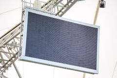 Led screen installed on the stadium Royalty Free Stock Image