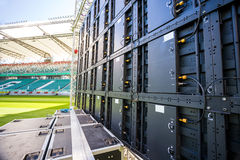 Led screen installed on the stadium Royalty Free Stock Photos
