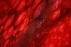 LED screen picture red snake. Background Stock Photography