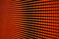Led screen red - diodes. Background Royalty Free Stock Photography