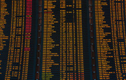 Led screen schedule of flights departures Royalty Free Stock Images