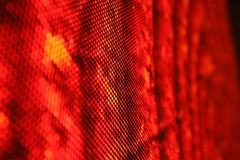 Led screen SMD red close up Royalty Free Stock Photos