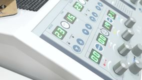 LED screens and knobs on diathermy machine stock video