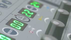 LED screens and knobs on diathermy machine stock footage