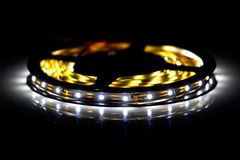 Led shining diode lights. Strip. Stock Photography