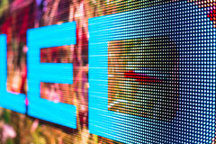 LED sign at the LED smd screen Stock Photography
