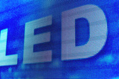 LED sign at the LED smd screen Royalty Free Stock Image