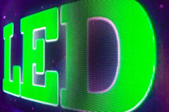 LED sign at the LED smd screen Royalty Free Stock Photos