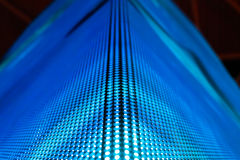 LED smd wall with corner. Bright colored blue LED smd wall with corner - close up background Stock Photo