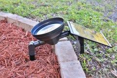 LED Solar Powered Flood Light Royalty Free Stock Image