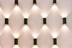 Led  spot lighting. On wall Royalty Free Stock Photos