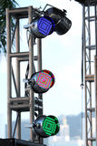 LED Spotlight. At the outdoor event Royalty Free Stock Photos