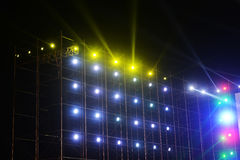 Led stage light. Ing effect at night stock image